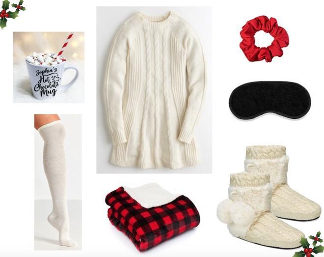 Mix đồ với váy sweater trắng cực đơn giản, tự tin xuống phố đón giáng sinh!