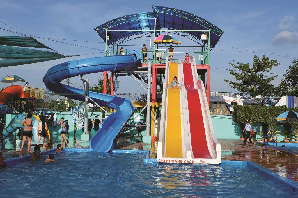 Công viên nước sẽ nâng cấp các trò chơi của hồ bơi trước đây