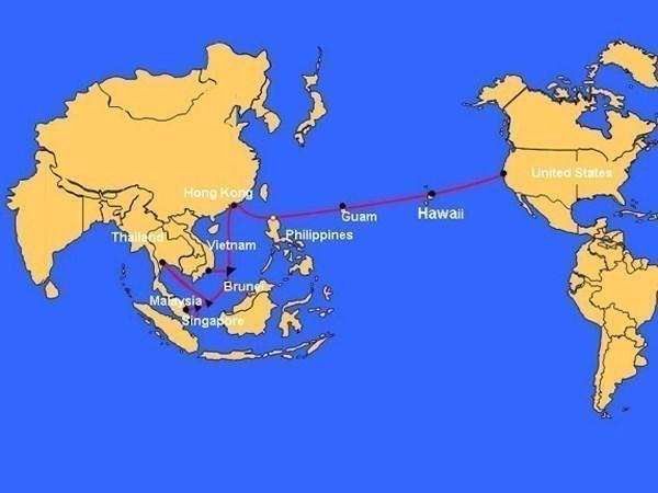 Đường đi của cáp quang biển APG. (Nguồn: Internet)