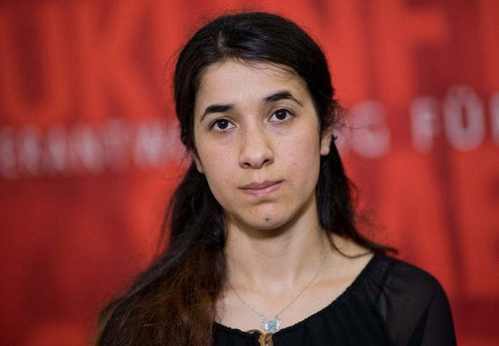 Cô Nadia Murad tại quốc hội bang Hanover, Đức, vào ngày 31-5-2016. Ảnh: AP