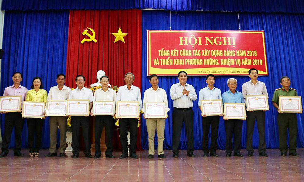 Châu Thành: Đổi mới, nâng cao chất lượng công tác xây dựng Đảng
