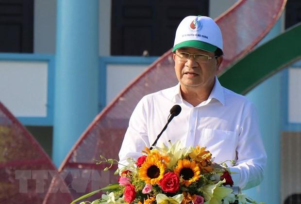 Phó Thủ tướng Trịnh Đình Dũng phát biểu tại lẽ phát động. (Ảnh: Huỳnh Sử/TTXVN)