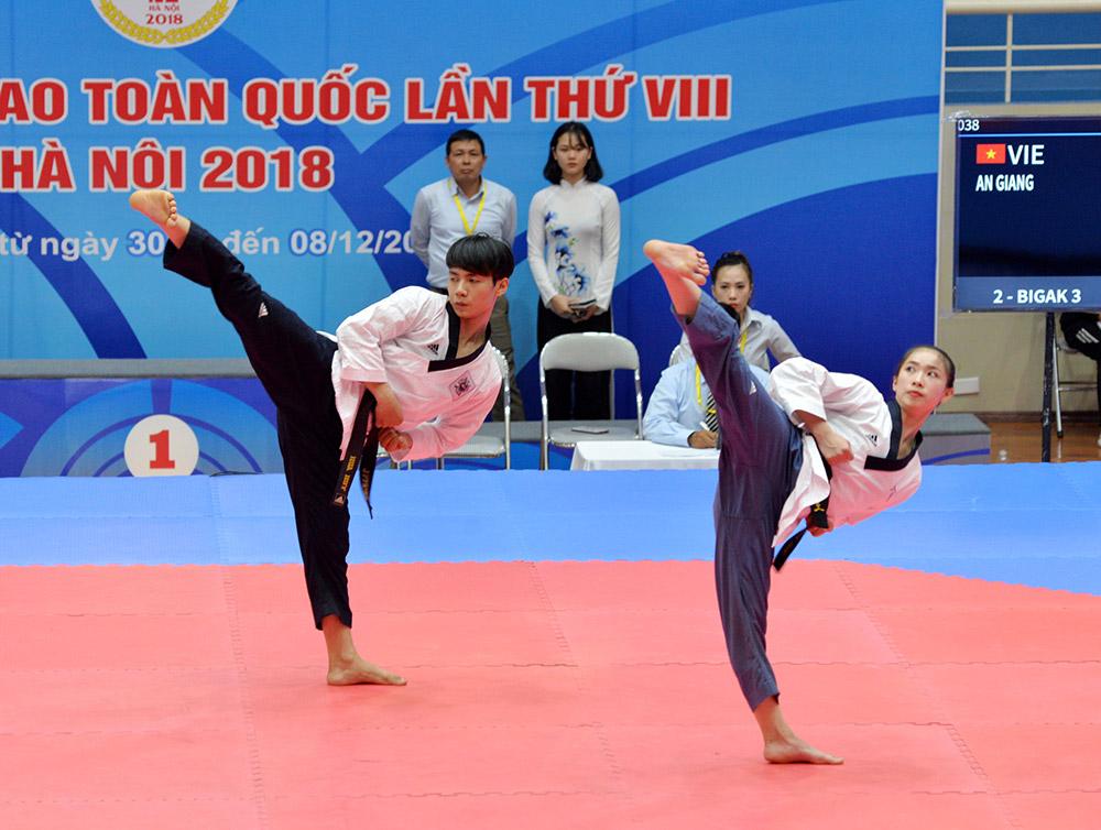 Quyền là nội dung thế mạnh của taekwondo tỉnh
