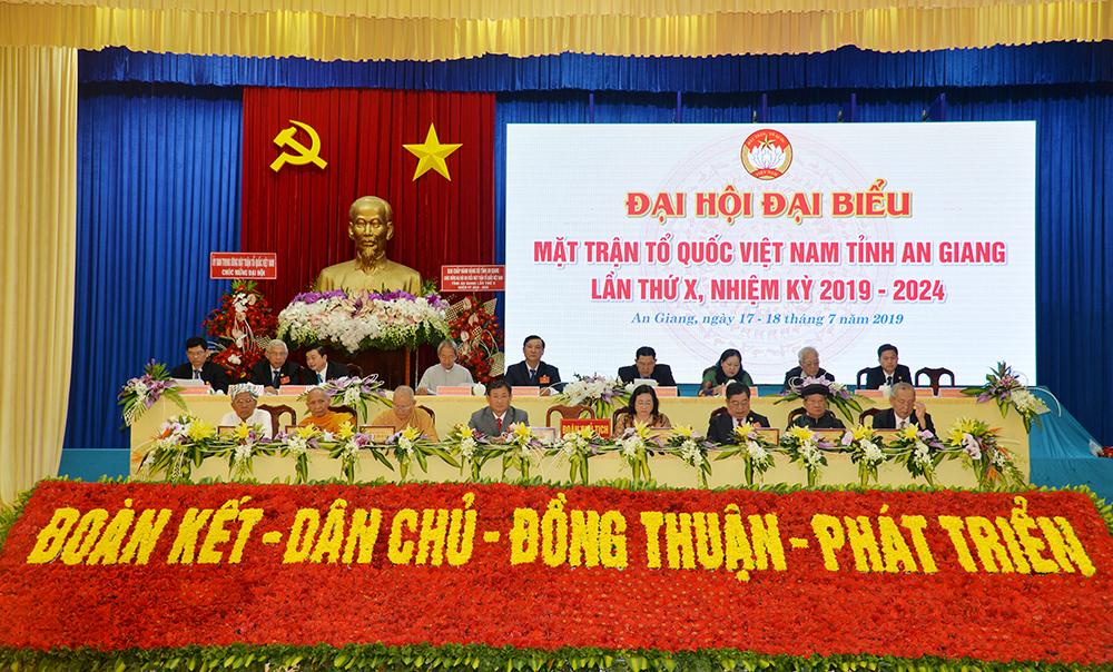 Khai mạc Đại hội đại biểu MTTQ Việt Nam tỉnh lần thứ X (nhiệm kỳ 2019-2024)