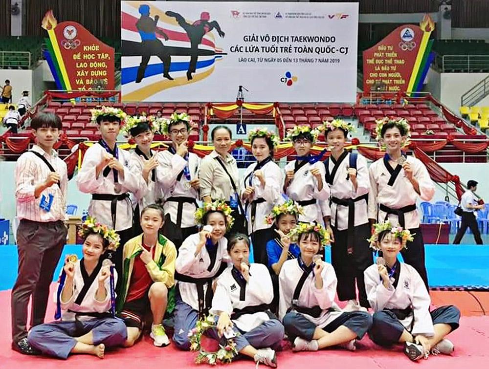 Các vận động viên taekwondo tỉnh đạt thành tích tốt tại giải