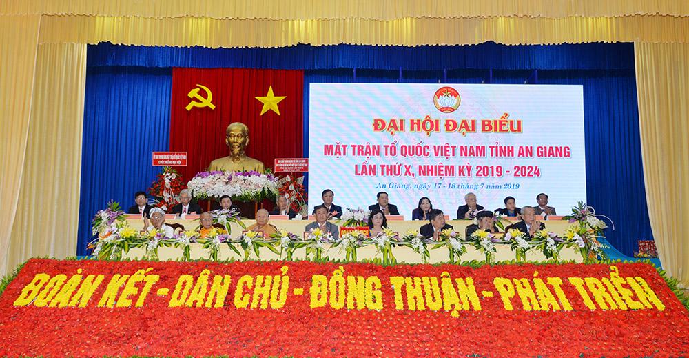 Đoàn Chủ tịch Đại hội đại biểu MTTQ Việt Nam tỉnh lần thứ X (nhiệm kỳ 2019-2024)