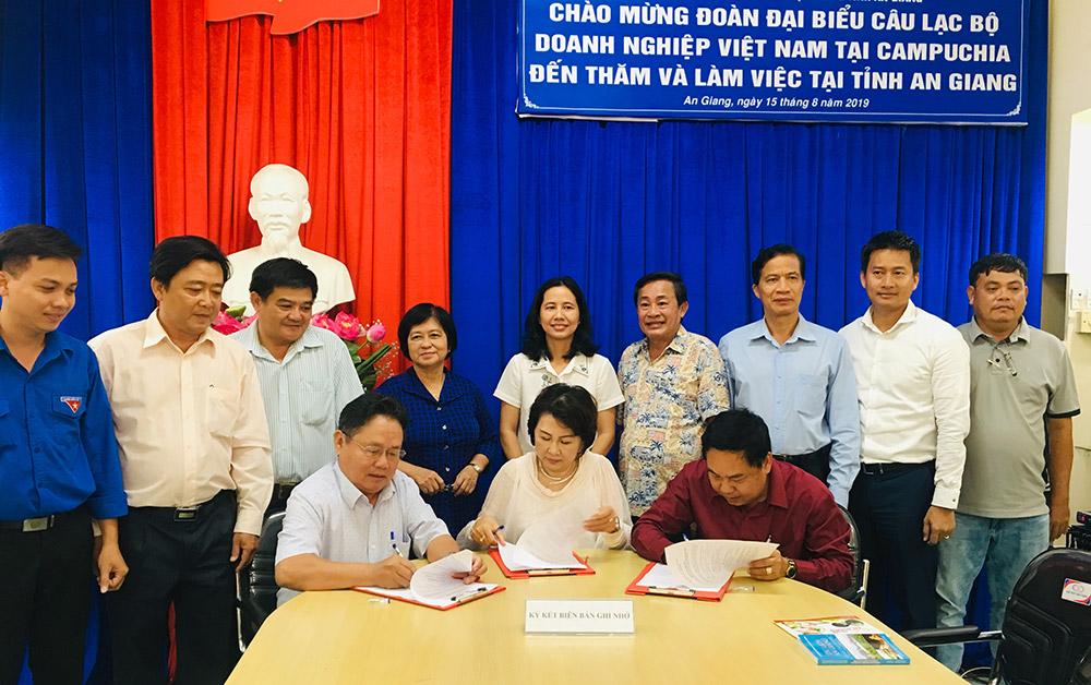 Tiếp đoàn Câu lạc bộ doanh nghiệp Việt Nam tại Campuchia năm 2019
