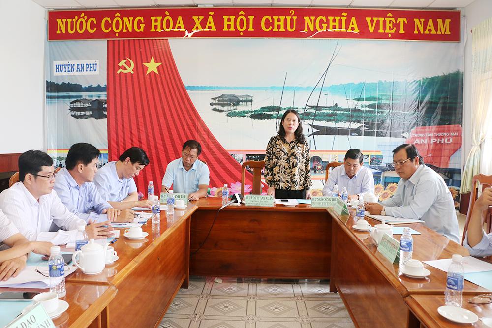 Bí thư Tỉnh ủy Võ Thị Ánh Xuân: Không chủ quan trước diễn biến phức tạp của lũ năm 2019