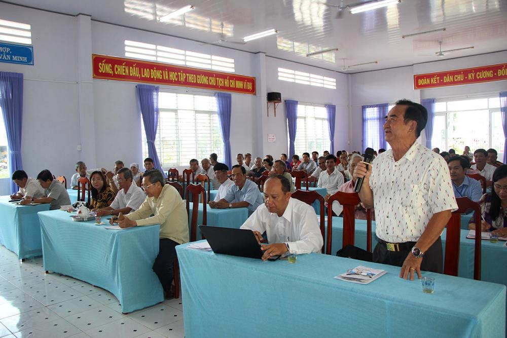 Đại biểu Quốc hội tiếp xúc cử tri huyện Chợ Mới