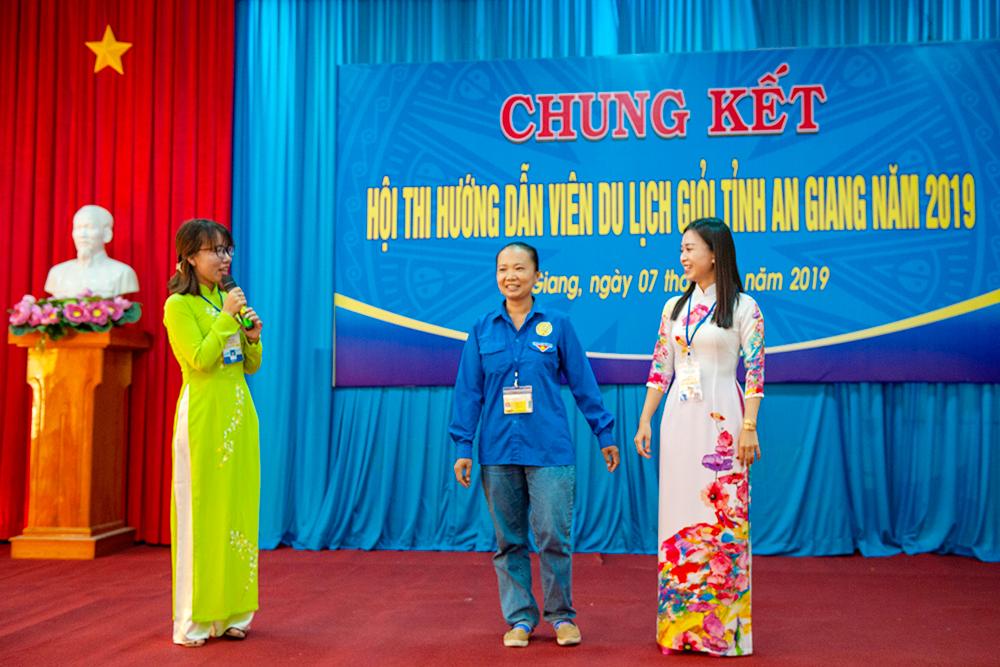 Tranh tài vòng chung kết Hội thi hướng dẫn viên du lịch giỏi tỉnh An Giang năm 2019