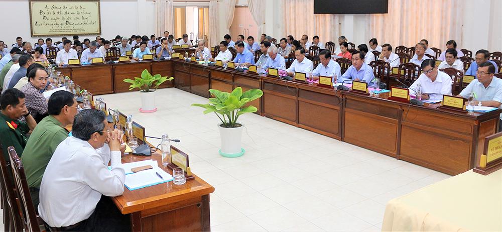 Ban Chấp hành Đảng bộ tỉnh lần thứ 17 (khóa X) đánh giá tình hình thực hiện nhiệm vụ chính trị  9 tháng của năm 2019