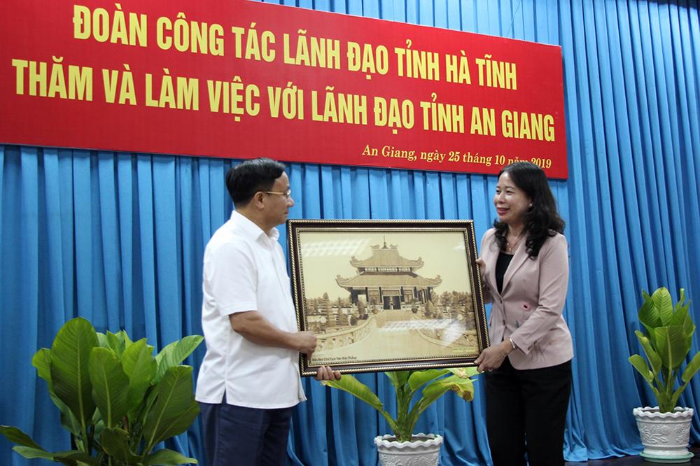 Bí thư Tỉnh ủy tỉnh Hà Tĩnh Lê Đình Sơn thăm và làm việc tại An Giang