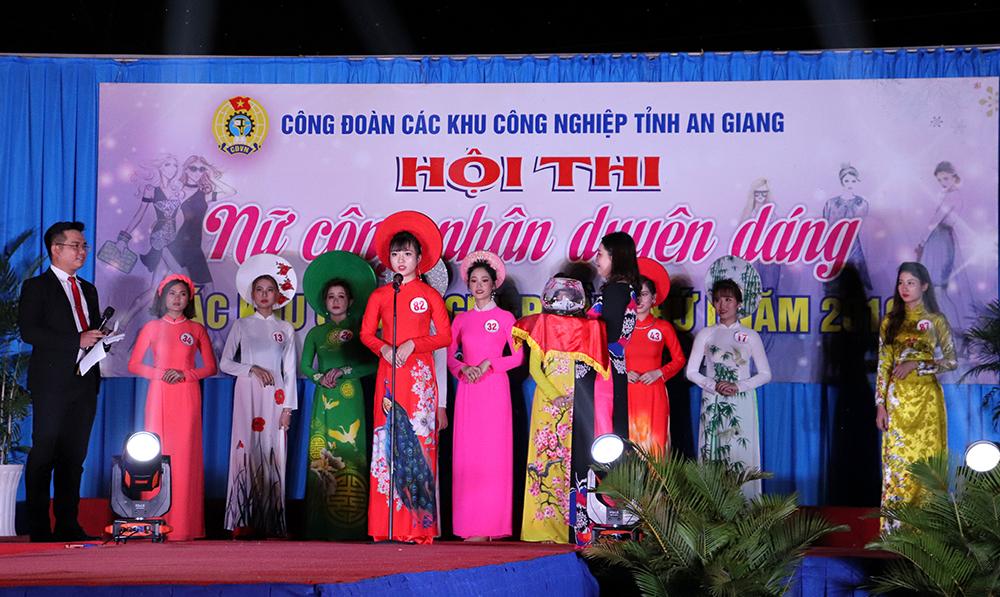 """Thí sinh Trần Thị Bảo Trang đoạt giải nhất Hội thi """"Nữ công nhân duyên dáng"""""""