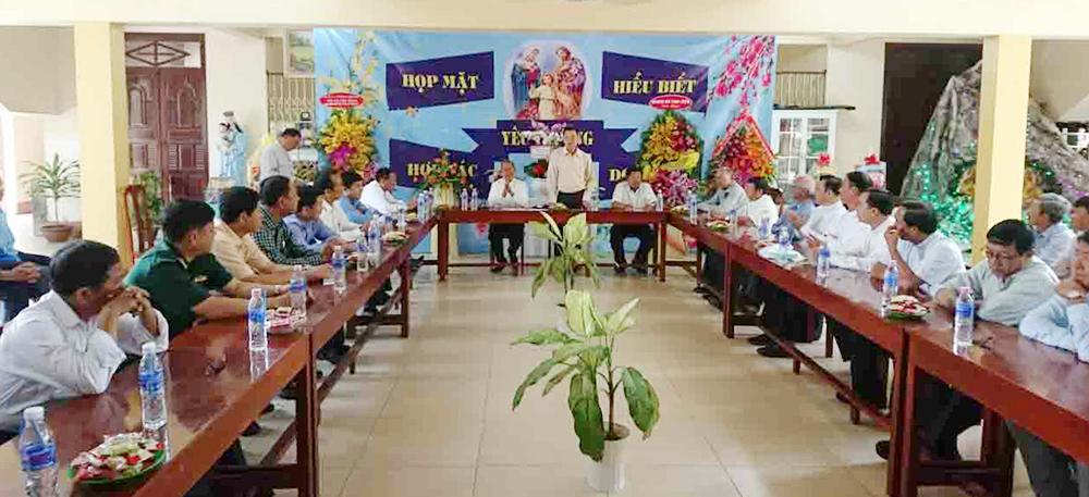 Phó Bí thư Thường trực Tỉnh ủy Võ Anh Kiệt dự Họp mặt truyền thống Giáo hạt Châu Đốc 2019