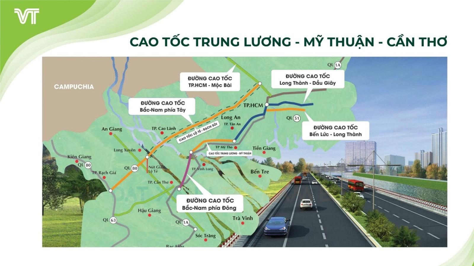 Hình ảnh tuyến cao tốc Trung Lương – Mỹ Thuận – Cần Thơ