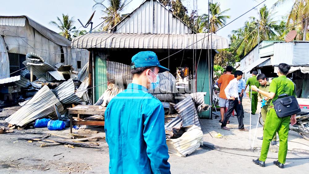 Hỏa hoạn thiệt hại 7 căn nhà ở An Phú