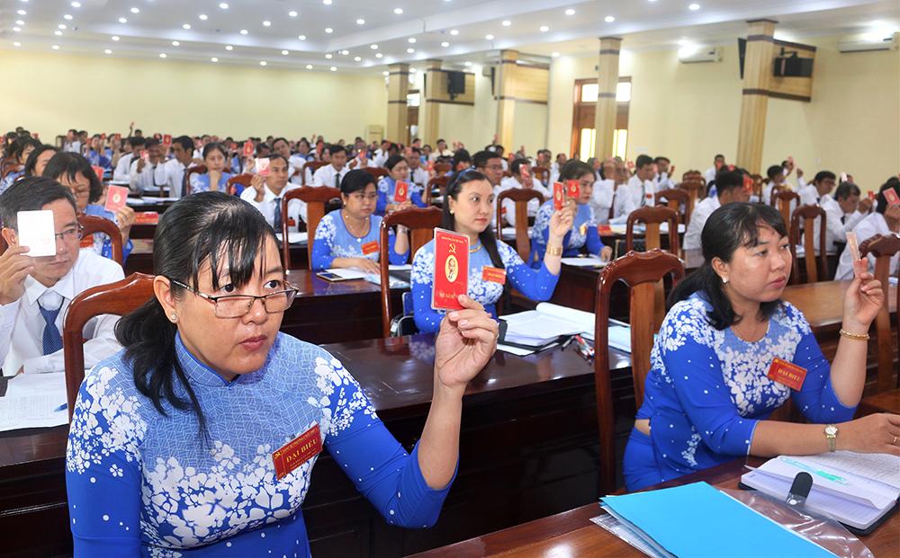 Đại hội đại biểu Đảng bộ phường Châu Phú A thành công tốt đẹp