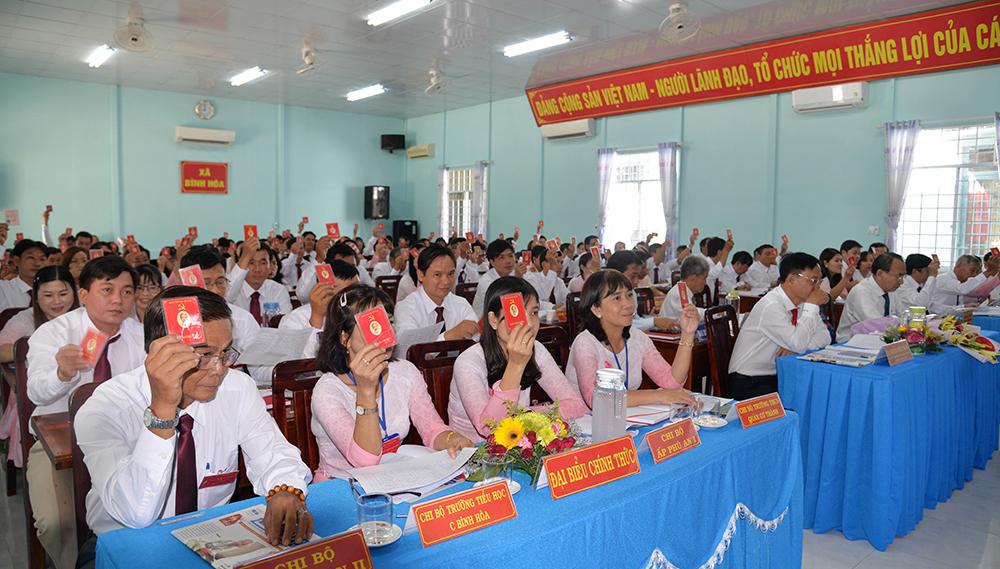 Đại hội đại biểu Đảng bộ xã Bình Hòa lần thứ XVII (nhiệm kỳ 2020 – 2025) thành công tốt đẹp