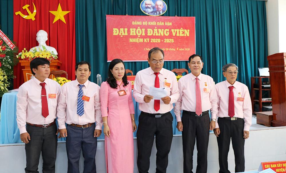 Đồng chí Đoàn Hồng Danh tái đắc cử Bí Thư Đảng bộ khối Dân vận huyện (nhiệm kỳ 2020-2025)