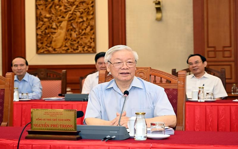 Tổng Bí thư, Chủ tịch nước Nguyễn Phú Trọng (Ảnh: Duy Linh)