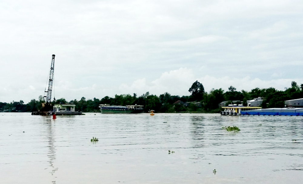 An Giang: Tổ chức đối thoại người dân để nạo vét thông luồng sông Hậu