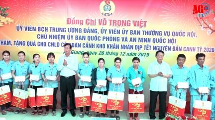 Chủ nhiệm Ủy ban Quốc phòng – An ninh Quốc hội Võ Trọng Việt tặng quà Tết công nhân có hoàn cảnh khó khăn