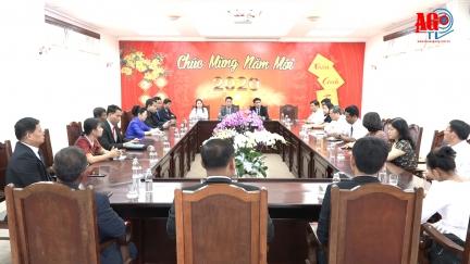 Đoàn đại biểu Bộ Lễ nghi và Tôn giáo Vương quốc Campuchia thăm và chúc Tết tỉnh An Giang