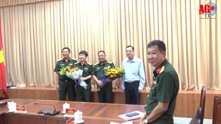 Đại tá Lê Minh Quang, Phó Chủ nhiệm Ủy ban Kiểm tra Đảng ủy Quân khu 9 được bổ nhiệm giữ chức Chính ủy Bộ Chỉ huy Quân sự An Giang
