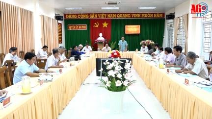 Phó Bí thư Thường trực Tỉnh ủy An Giang Võ Anh Kiệt làm việc Huyện ủy An Phú về công tác chuẩn bị Đại hội Đảng các cấp