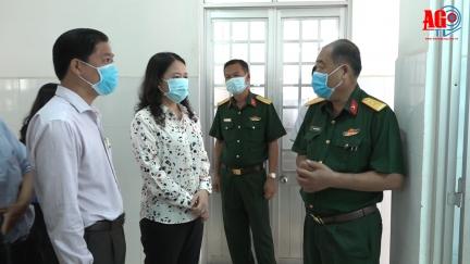 Bí thư Tỉnh ủy Võ Thị Ánh Xuân kiểm tra công tác phòng, chống dịch bệnh Covid-19 tại Thoại Sơn và TP. Long Xuyên