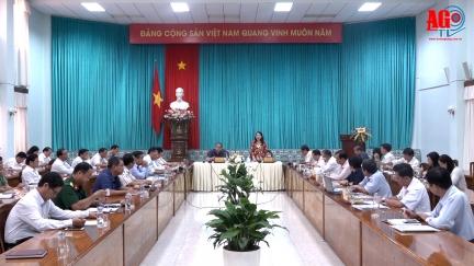 Đoàn đại biểu Quốc hội An Giang tiếp xúc UBND tỉnh trước kỳ họp thứ 9, Quốc hội khoá XIV