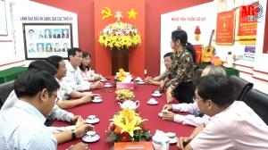 Chủ tịch UBMTTQVN tỉnh Nguyễn Tiếc Hùng và Phó Chủ tịch UBND tỉnh Lê Văn Phước thăm Báo An Giang