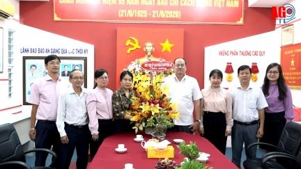 Chủ tịch UBND tỉnh Nguyễn Thanh Bình thăm Báo An Giang nhân kỷ niệm 95 năm Ngày Báo chí Cách mạng Việt Nam