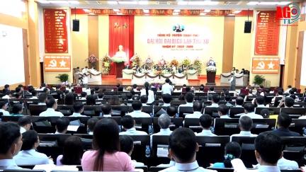 Khai mạc Đại hội đại biểu Đảng bộ huyện Châu Phú lần thứ XII (nhiệm kỳ 2020 - 2025)