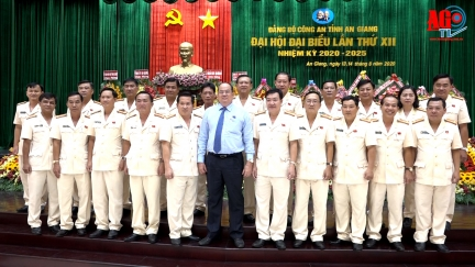 Đại tá Đinh Văn Nơi tái đắc cử Bí thư Đảng ủy Công an tỉnh An Giang nhiệm kỳ 2020-2025