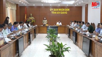 Đoàn đại biểu Quốc hội tỉnh An Giang tiếp xúc UBND và các sở, ngành trước kỳ họp thứ X, Quốc hội khóa XIV