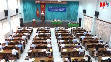 Kỳ họp lần thứ 17 HĐND tỉnh An Giang (khóa IX) giải quyết các công việc phát sinh đột xuất