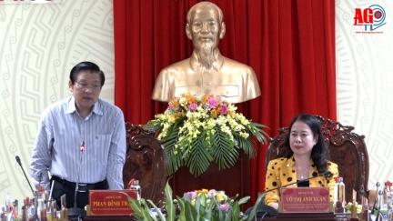 Bí thư Trung ương Đảng, Trưởng ban Nội chính Trung ương Phan Đình Trạc làm việc với Tỉnh ủy An Giang