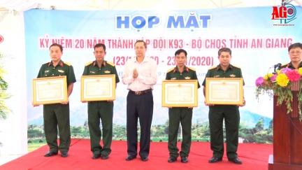 Họp mặt kỷ niệm 20 năm thành lập Đội K93