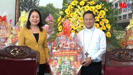 Bí thư Tỉnh ủy An Giang Võ Thị Ánh Xuân chúc mừng Giáng sinh Tòa giám mục giáo phận Long Xuyên