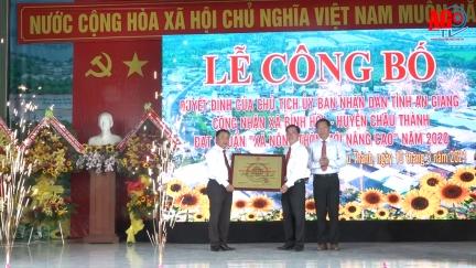 Bình Hòa trở thành xã nông thôn mới nâng cao đầu tiên của huyện Châu Thành