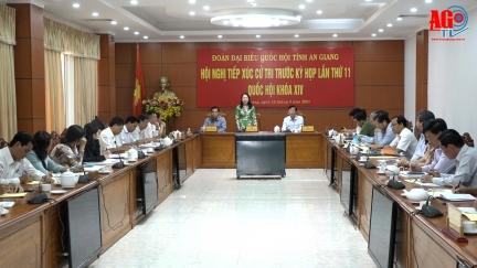 Đoàn đại biểu Quốc hội tỉnh An Giang tiếp xúc UBND tỉnh trước kỳ họp Quốc hội lần thứ 11