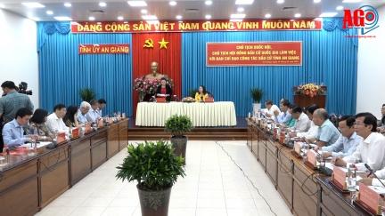 Chủ tịch Quốc hội, Chủ tịch Hội đồng Bầu cử Quốc gia Nguyễn Thị Kim Ngân làm việc về công tác bầu cử tại An Giang