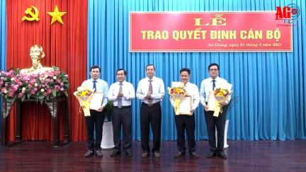 Trao quyết định cán bộ thuộc diện Ban Thường vụ Tỉnh ủy An Giang quản lý