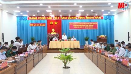 Phó Thủ tướng Thường trực Chính phủ Trương Hòa Bình kiểm tra công tác phòng, chống dịch bệnh COVID-19 tại An Giang