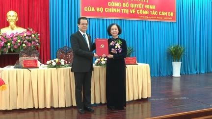 Đồng chí Lê Hồng Quang, Phó Chánh án Thường trực Tòa án nhân dân tối cao giữ chức Bí thư Tỉnh ủy An Giang