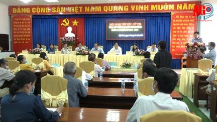 Các ứng cử viên đại biểu HĐND tỉnh đơn vị bầu cử số 1 tiếp xúc cử tri