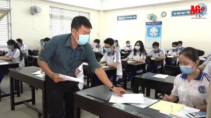 """Thí sinh An Giang """"nhẹ nhàng"""" hoàn thành ngày thi cuối kỳ thi tốt nghiệp THPT 2021 (đợt 1)"""