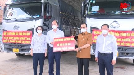 An Giang hỗ trợ người dân TP. Hồ Chí Minh gặp khó khăn, do ảnh hưởng dịch bệnh COVID-19 gần 1 tỷ đồng