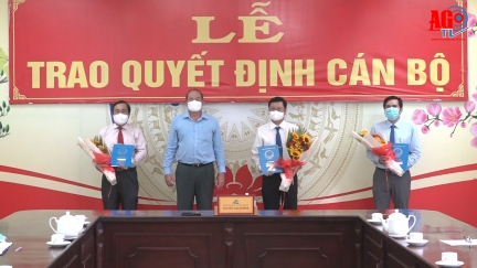 UBND tỉnh An Giang trao quyết định điều động, bổ nhiệm cán bộ